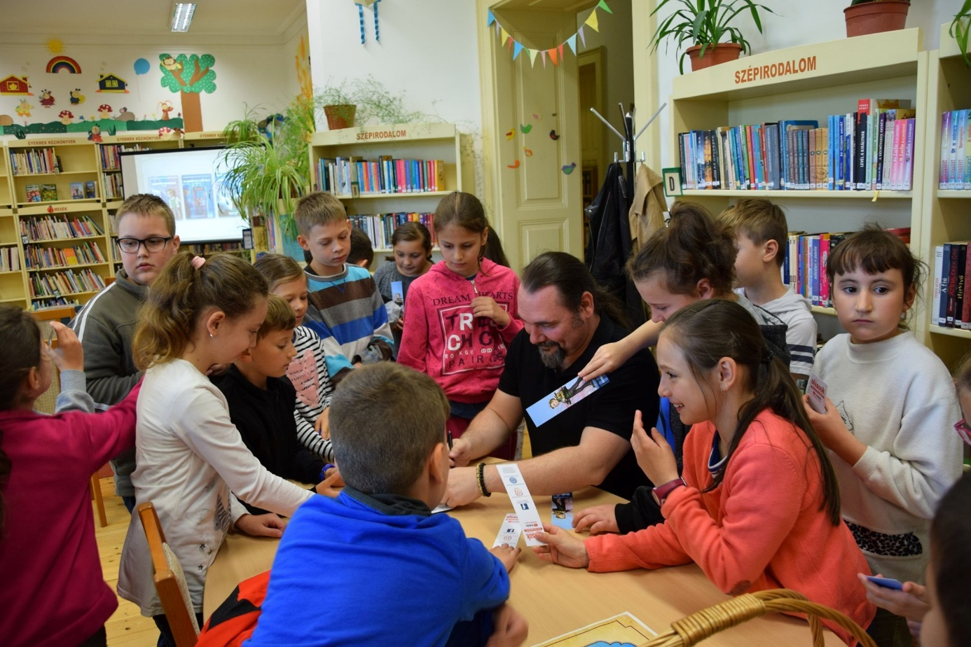 Reader-meets-writer event in the Town library